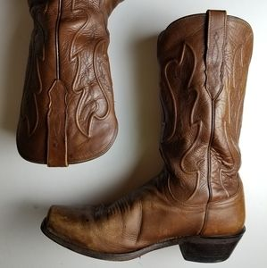 Lucchese COLE Cowboy Western Leather Boots 9EE